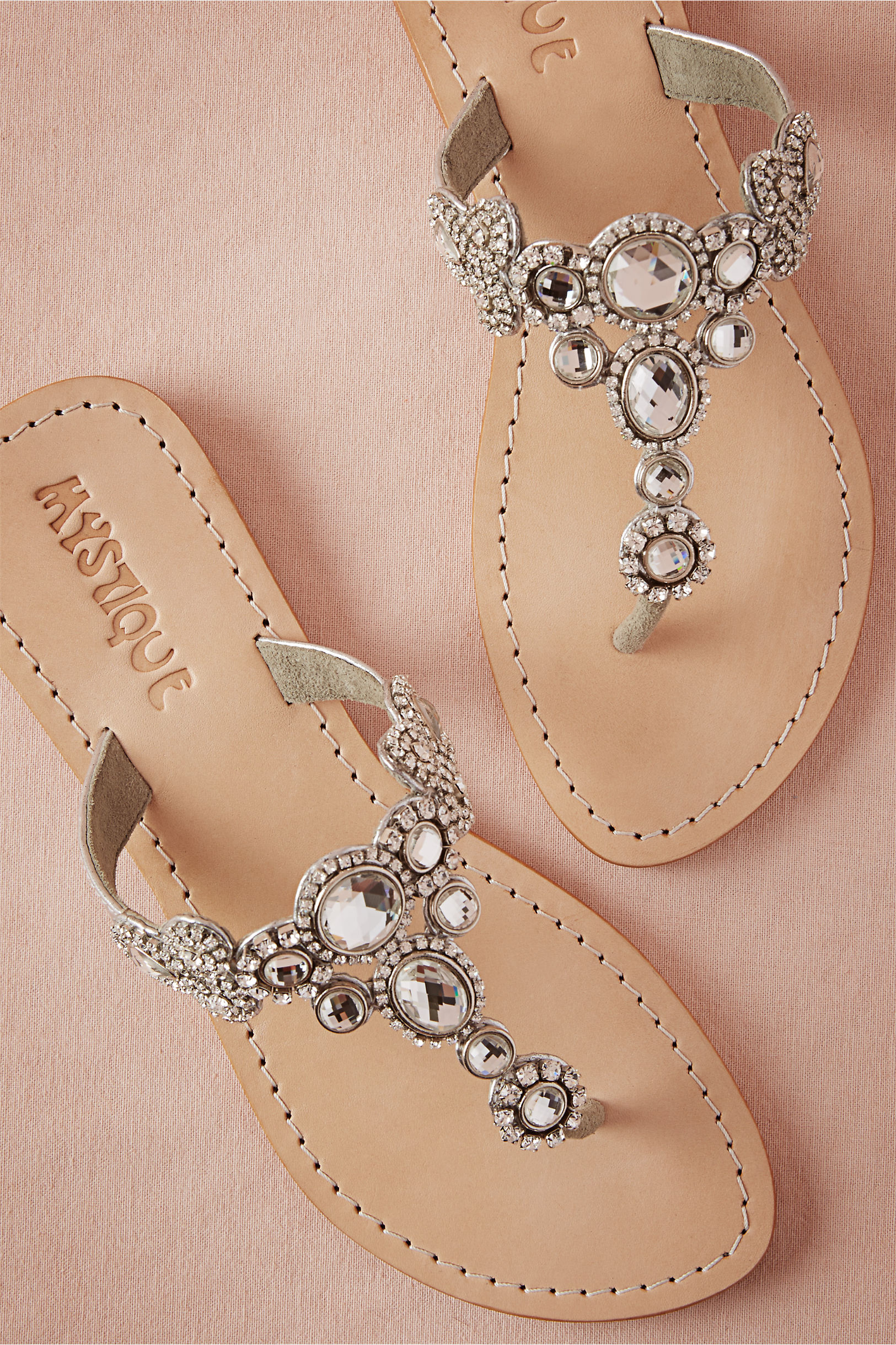 Lucent Sandals In Lingerie