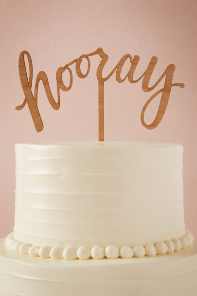 Alexis Mattox Natural Hooray Cake Topper | BHLDN