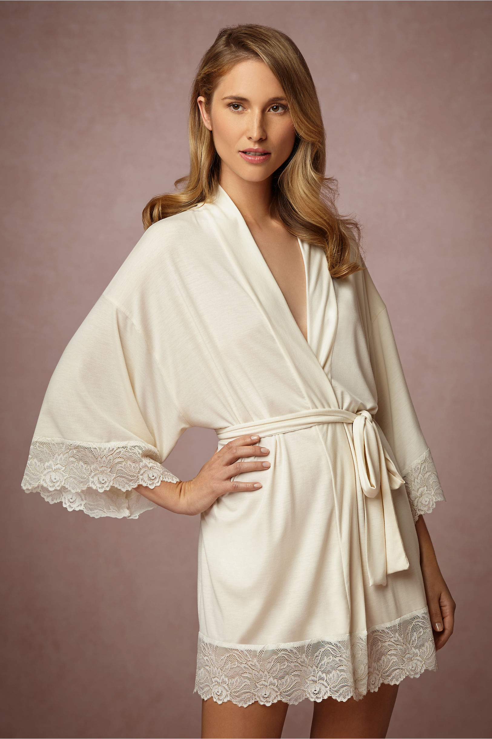 Short Bridal Robe