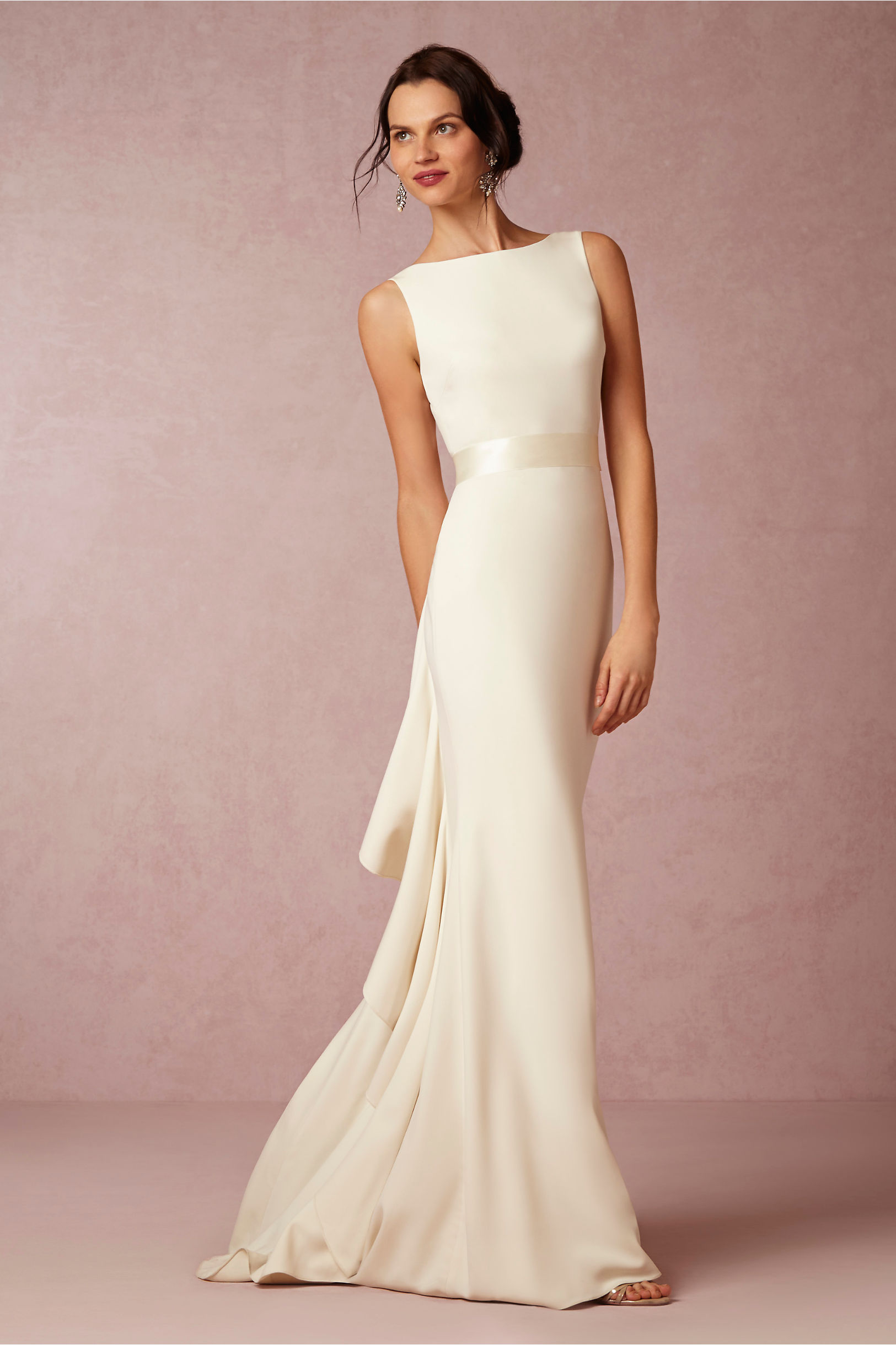 Badgley Mischka Cream Valentina Gown Bhldn