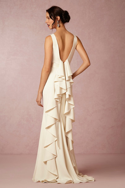 Badgley Mischka Cream Valentina Gown | BHLDN