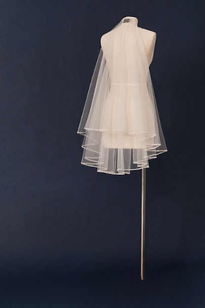 Paris by Debra Moreland Ivory Ribboning Cirque Veil | BHLDN