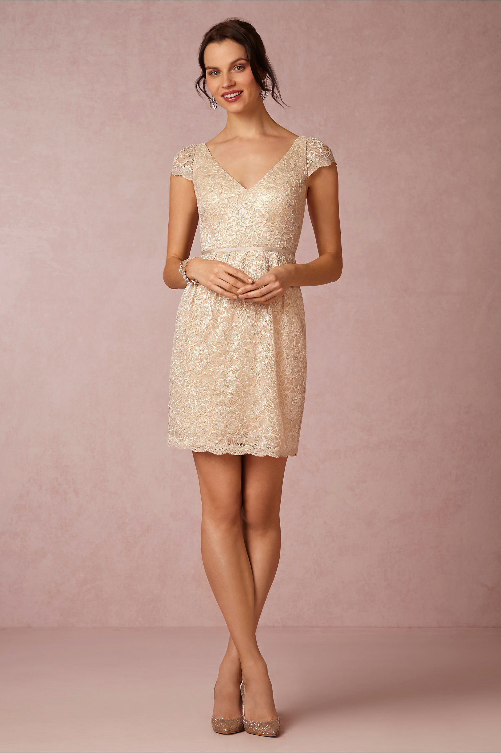 Jenny Yoo Soft Gold Beckett Dress