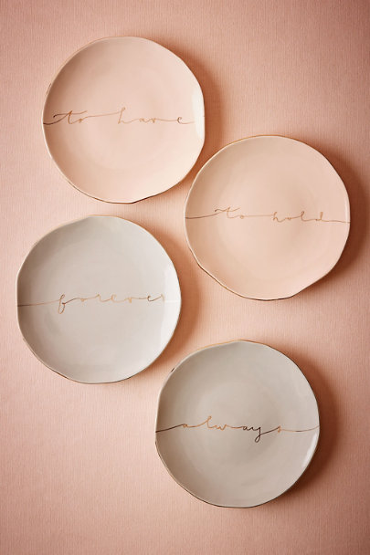 To Have/To Hold Scripted Dessert Plates (2) | BHLDN
