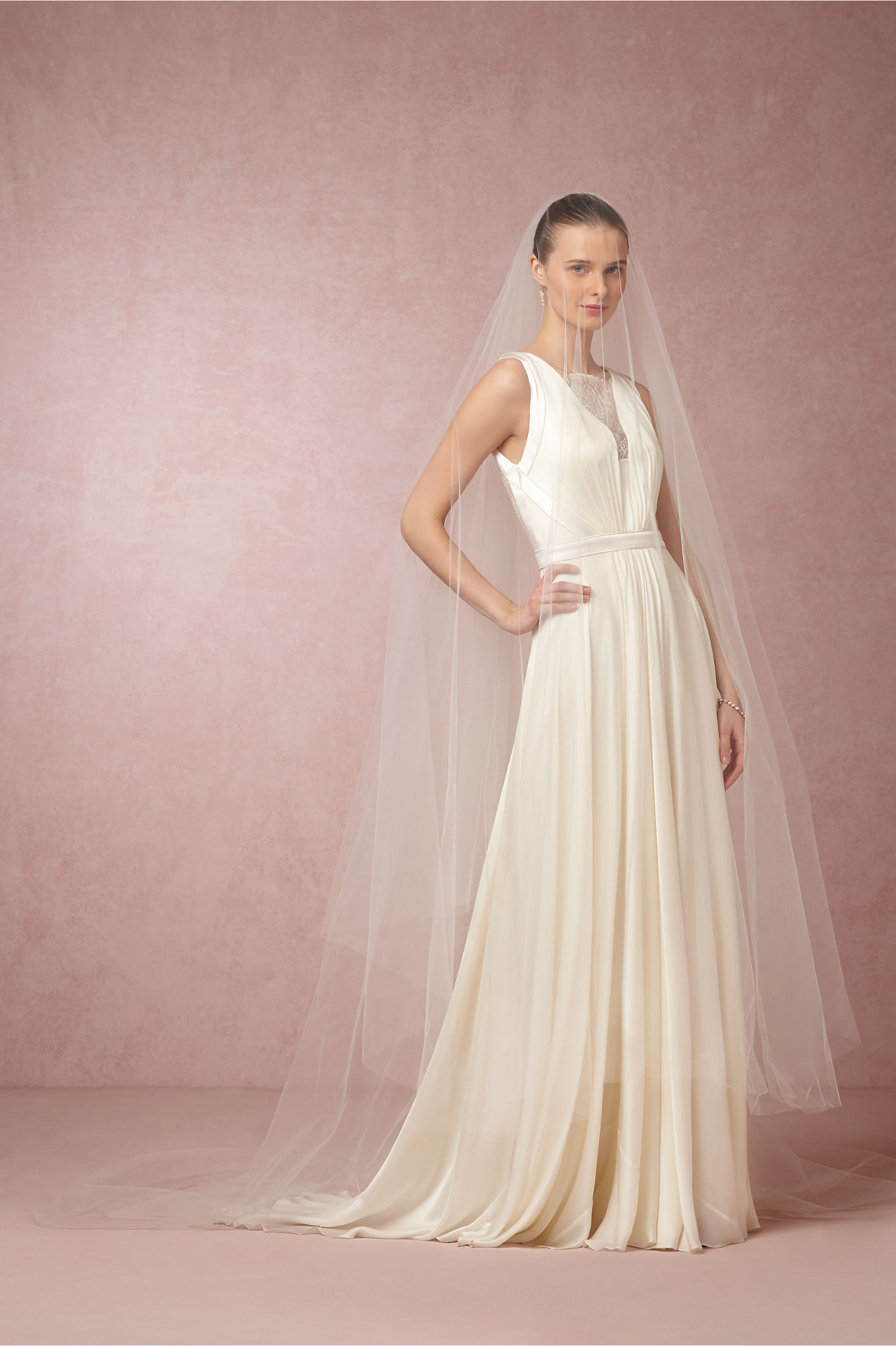 Athena Cathedral Veil Ivory in Bride | BHLDN
