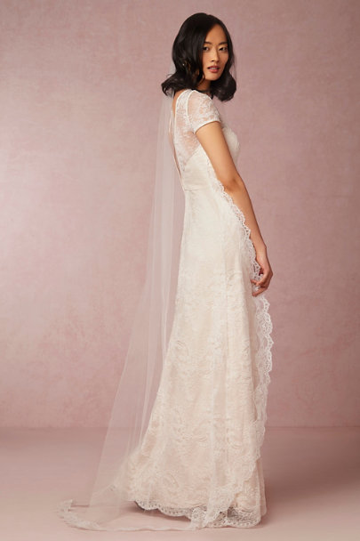 Paris by Debra Moreland Ivory Visionary Chapel Veil | BHLDN