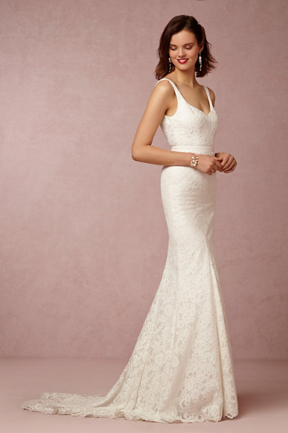 Nicole Miller Ivory Janey Gown | BHLDN
