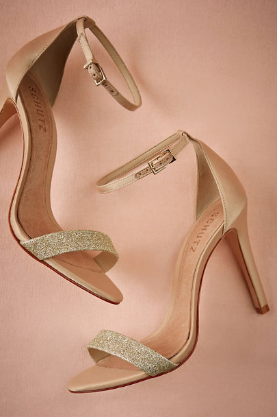 gold Dipped Glitter Heels | BHLDN
