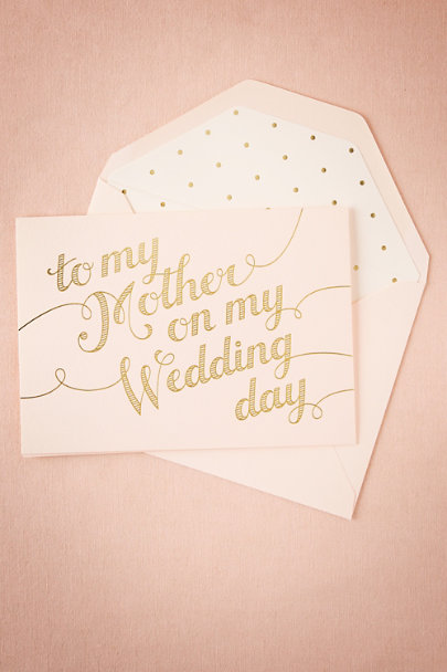 Sugar Paper Pink/Gold To My Mother Card | BHLDN