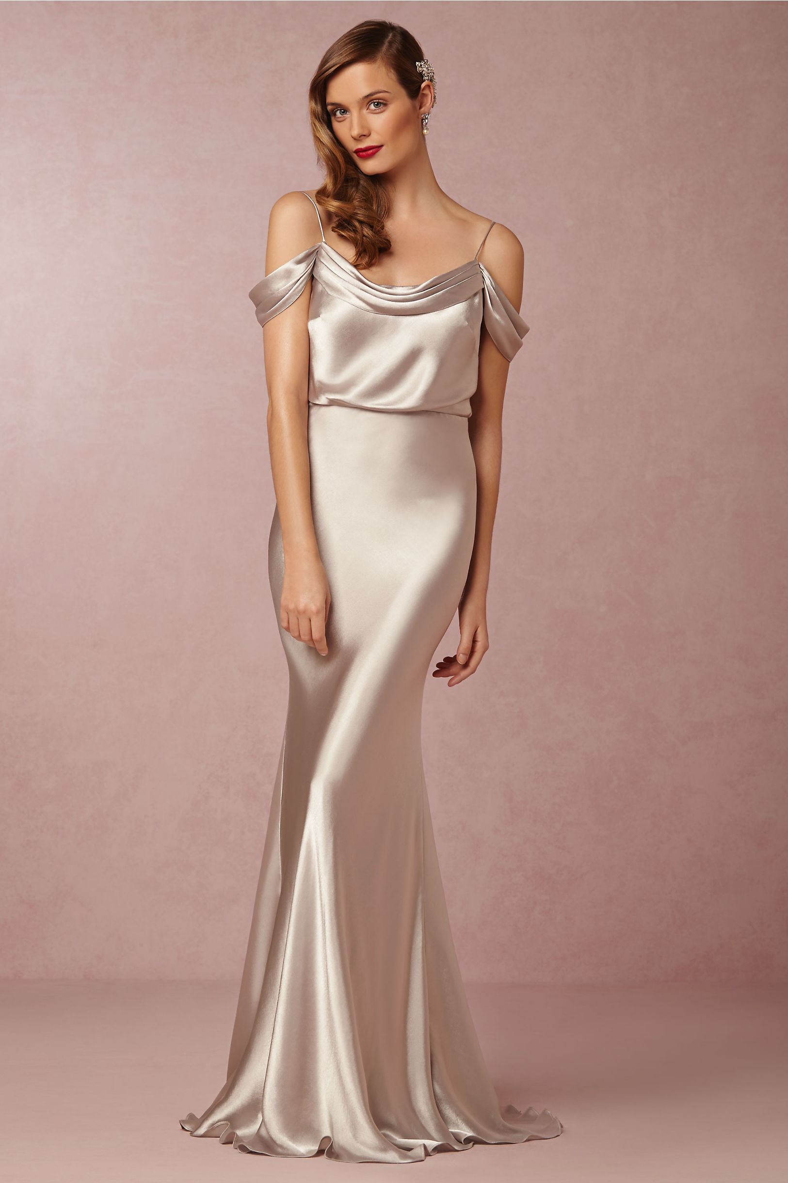 Jenny Yoo Victory Silver Sabine Dress Bhldn