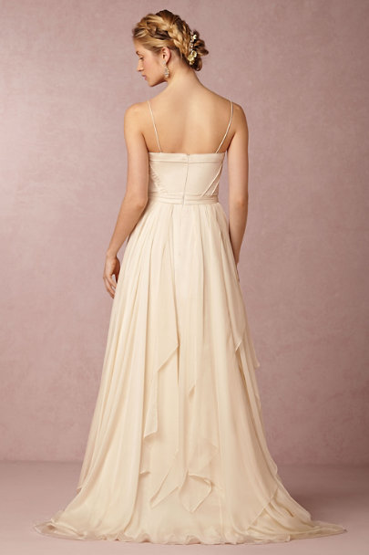 Catherine Deane Whisper Pink Cascada Gown | BHLDN