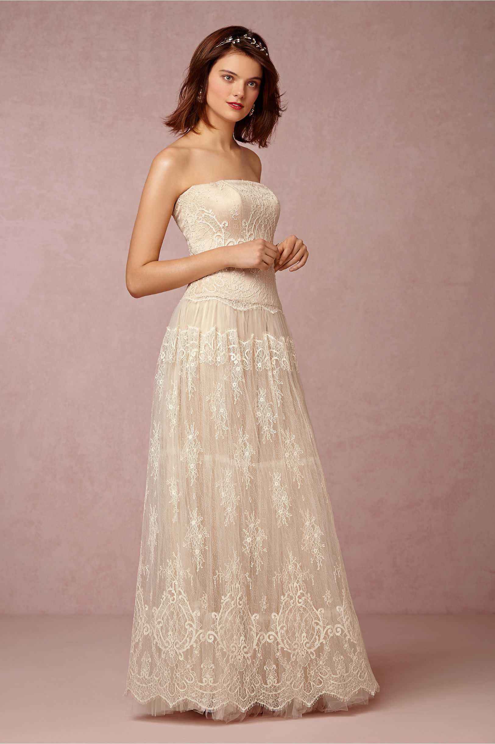 Sandy Gown in Bride | BHLDN