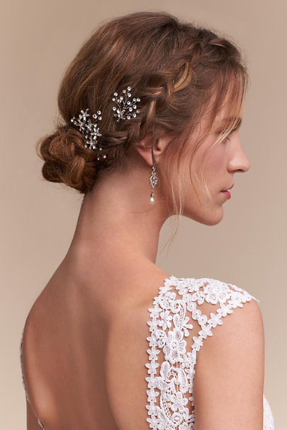 Twigs & Honey Silver Stargazer Hair Bobbies | BHLDN