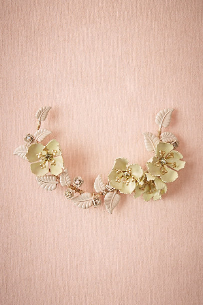 Debra Moreland Gold Tea Rose Headpiece | BHLDN