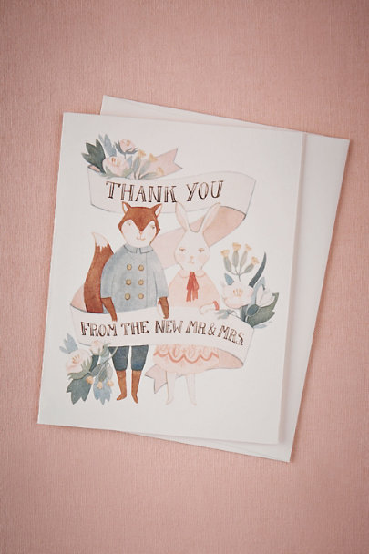multi Enchanted Forest Thank You Card | BHLDN