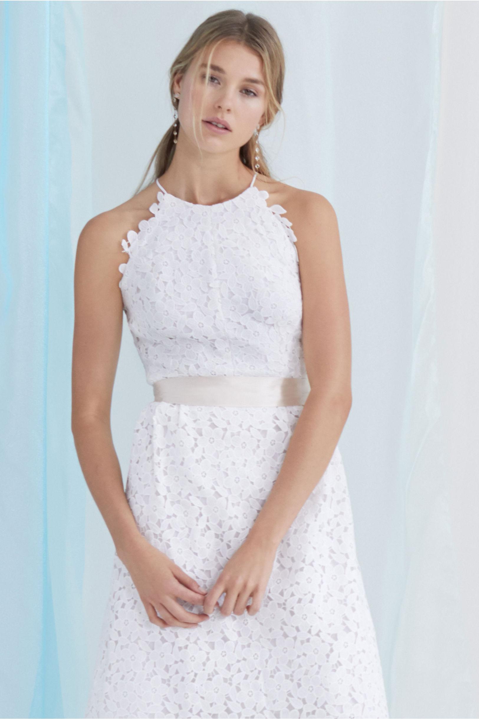 Simply Silk Sash White Sand in Bride | BHLDN