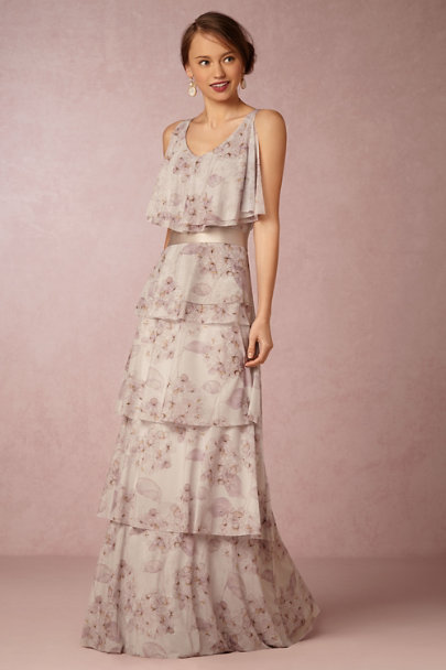 Madeleine Fig Twilight Breeze Simply Silk Sash | BHLDN