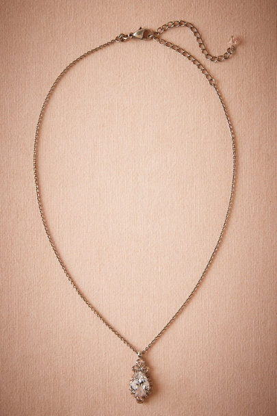 Sorrelli Silver Lettice Pendant Necklace | BHLDN