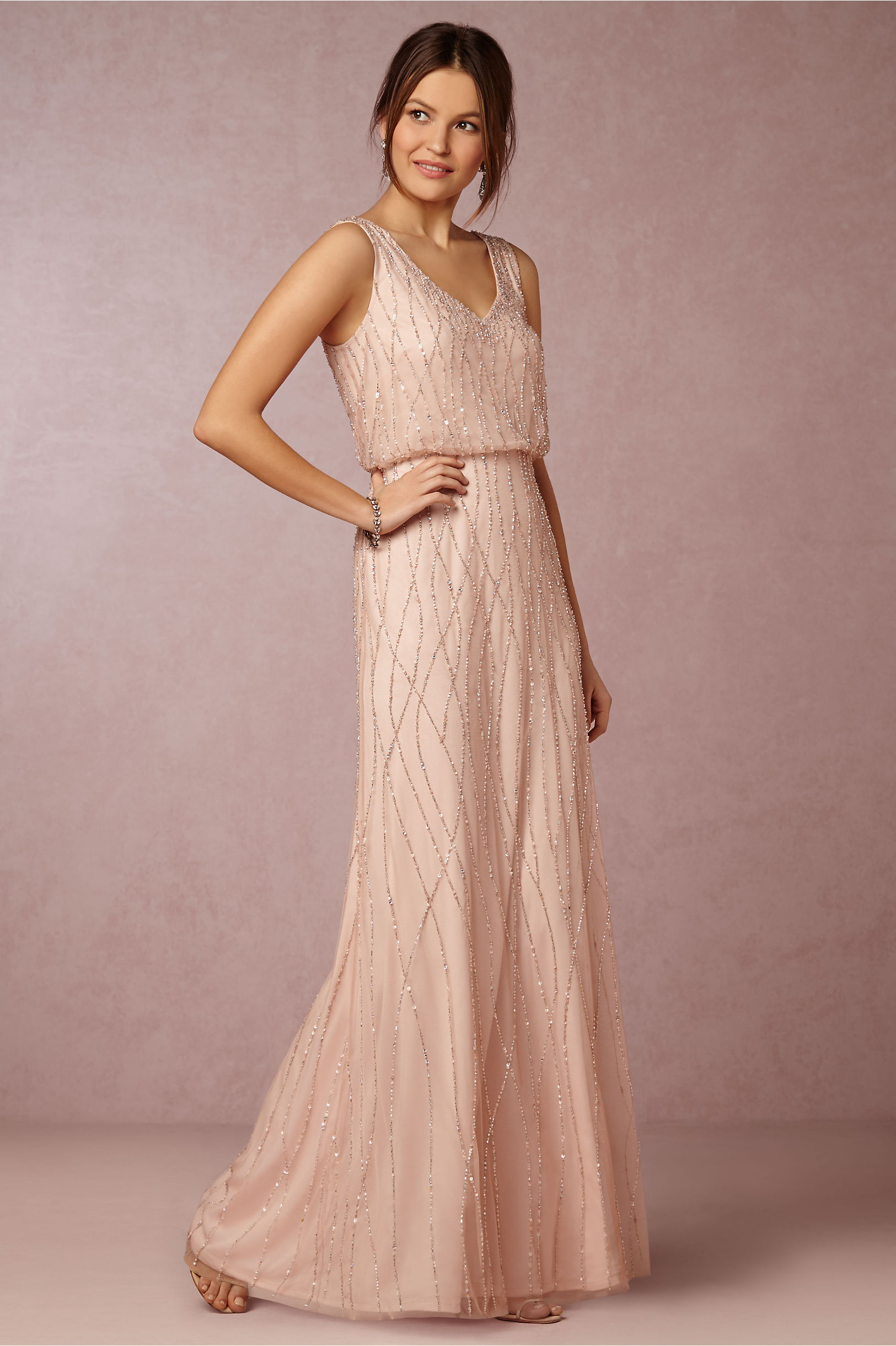 Brooklyn Dress Blush in Sale | BHLDN