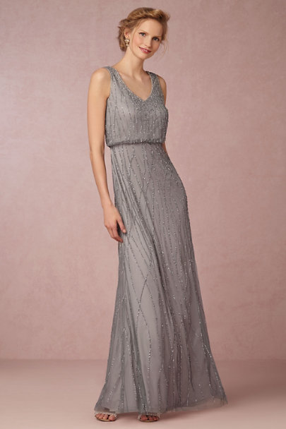 Adrianna Papell Slate Heather Brooklyn Dress | BHLDN