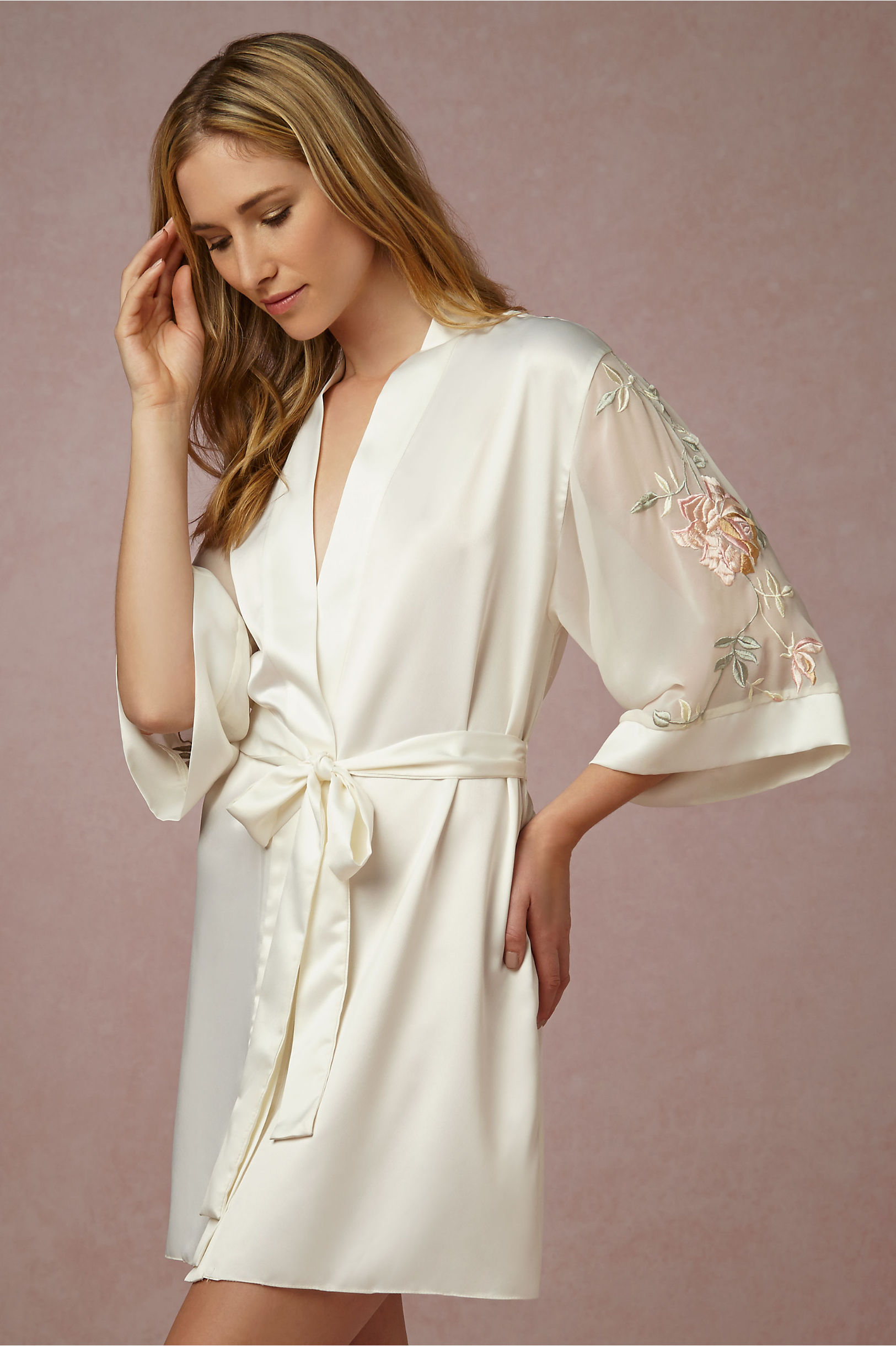Sweet Pea Robe in Bride | BHLDN
