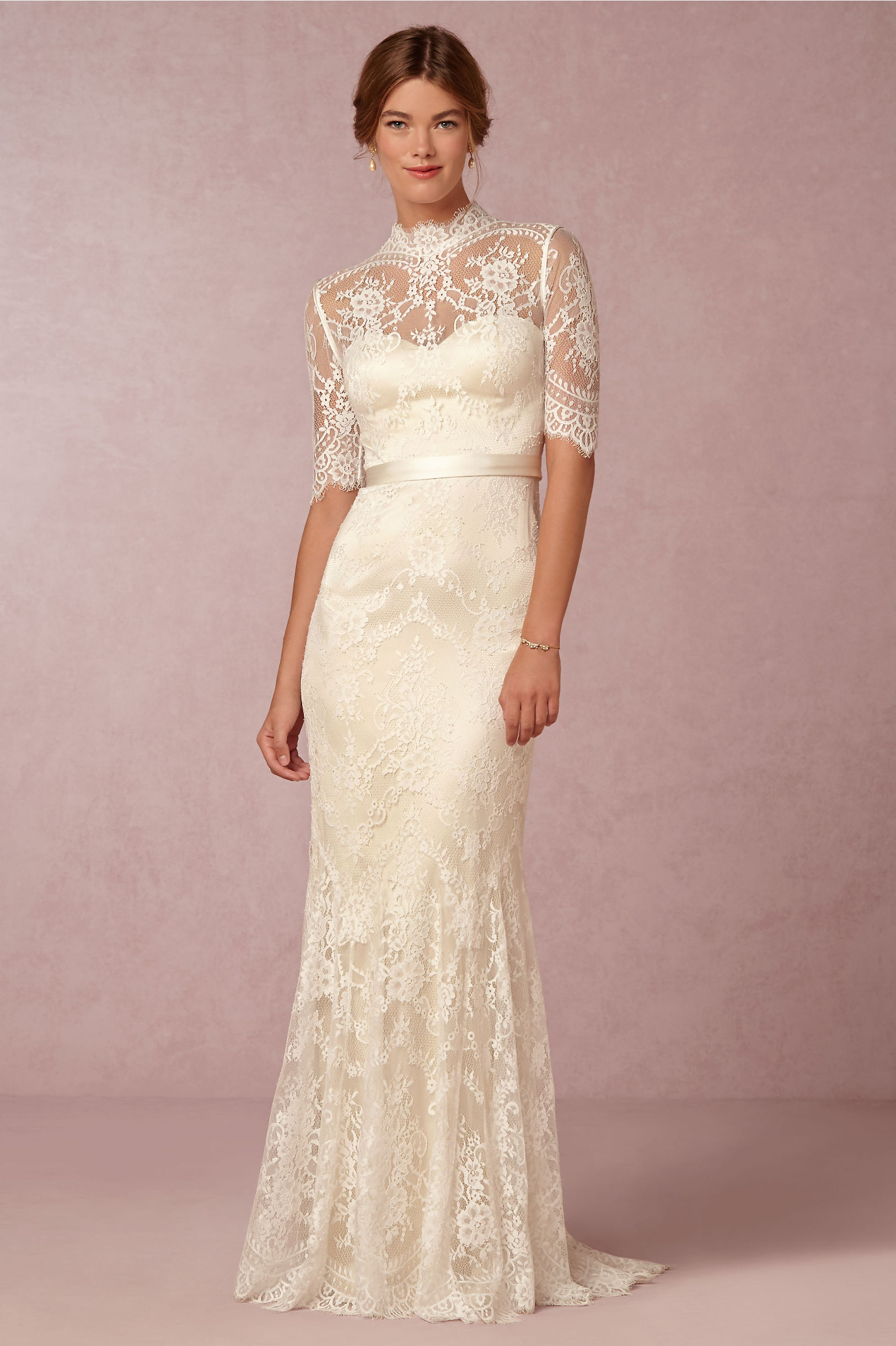 Catherine Deane Oyster Bridal Cream Bridgette Gown Bhldn