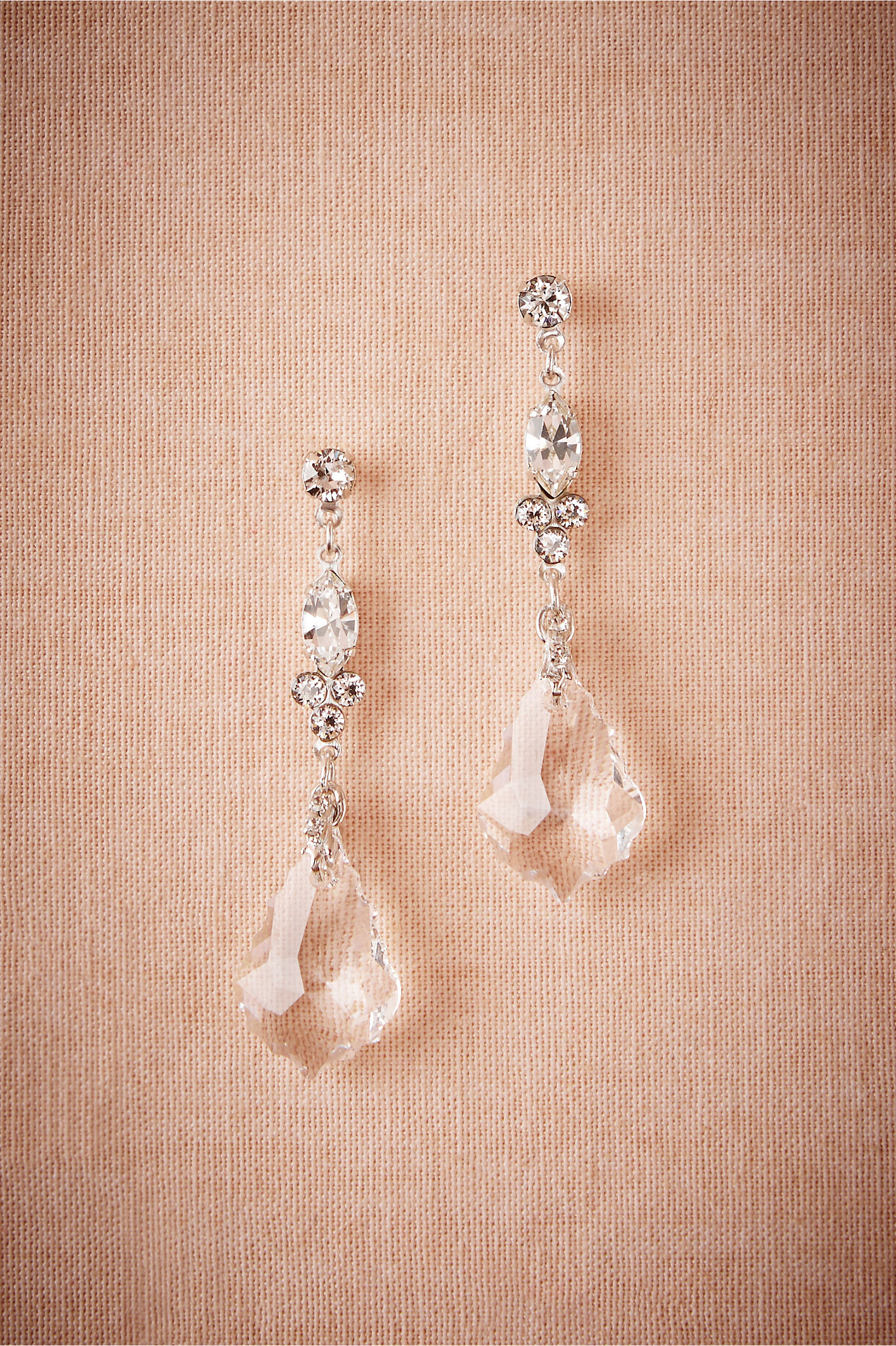 Crystal ship chandelier earrings in new noteworthy bhldn debra moreland silver crystal ship chandelier earrings bhldn arubaitofo Image collections