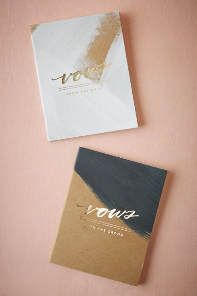 Multi Gilt Vow Journals (2) | BHLDN