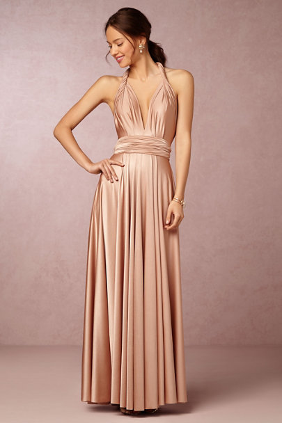 Twobirds Rosewater Ginger Convertible Maxi Dress Bhldn