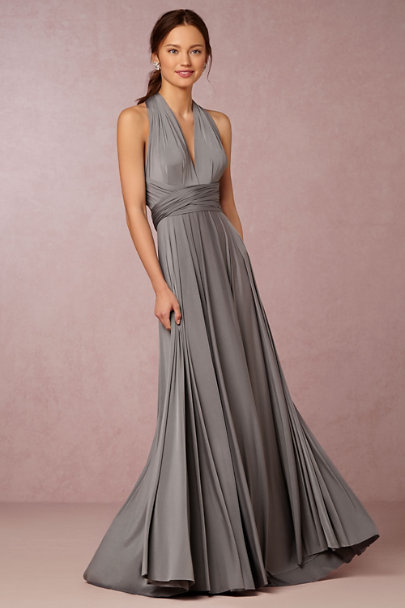 twobirds Charcoal Ginger Convertible Maxi Dress  | BHLDN
