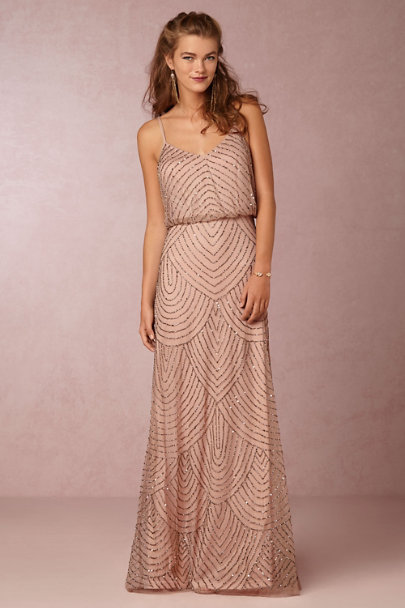 Adrianna Papell Taupe/Pink Obreanna Dress | BHLDN