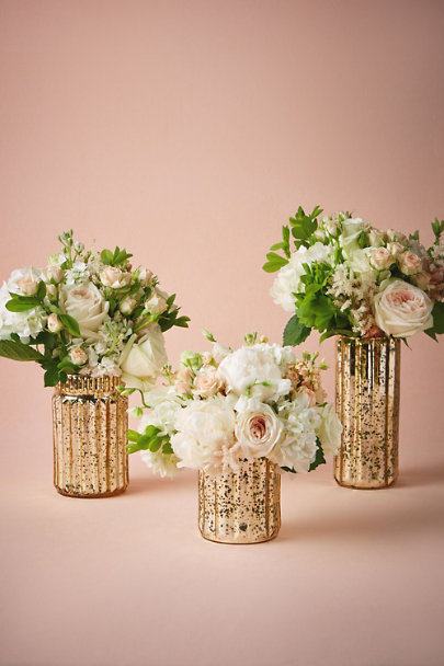 Fluted mercury vases gold in d cor gifts bhldn for Where can i buy wedding decorations