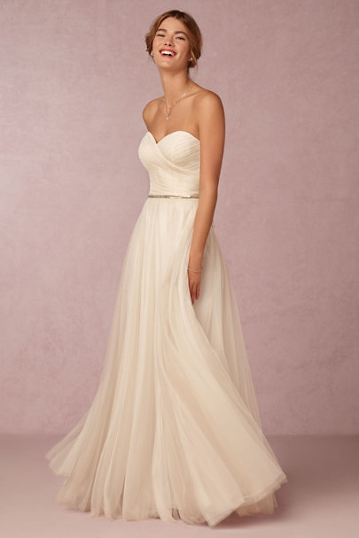 Watters Moonlight Calla Gown | BHLDN