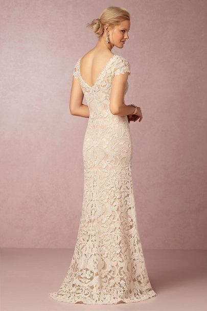c3a02f09e242 ... Tadashi Shoji Ivory/Petal August Gown | BHLDN ...