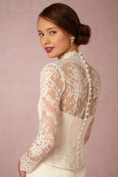 Dahlia topper in sale bhldn for Long sleeve wedding dress topper