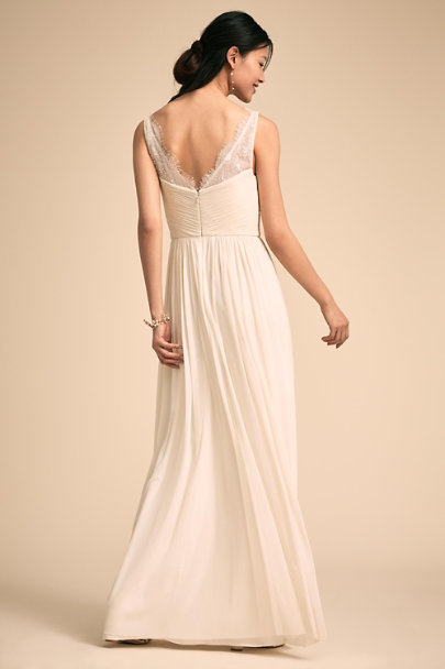 Hitherto Ivory Fleur Dress | BHLDN
