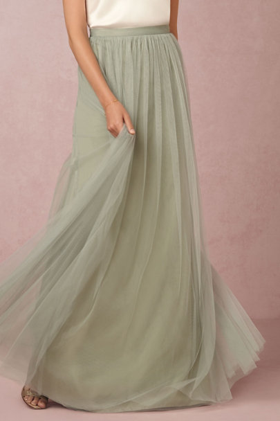 Jenny Yoo Sea Glass Louise Tulle Skirt | BHLDN