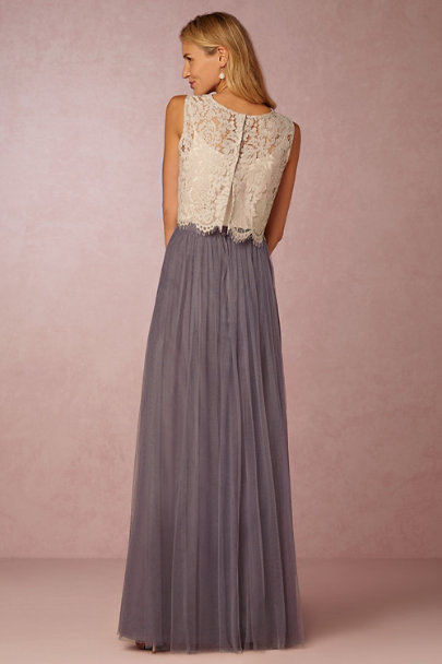 Louise tulle skirt hydrangea in bridal party bhldn for How to make a long tulle skirt for wedding dress