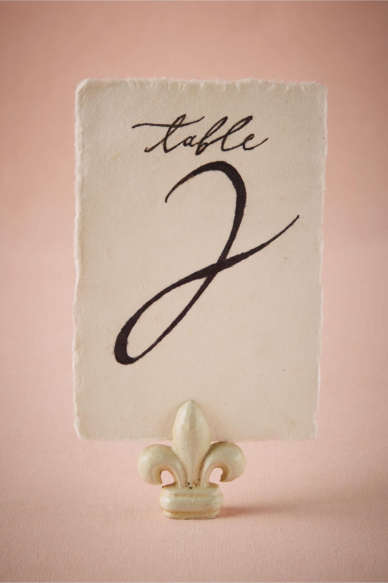 White Fleur De Lys Card Holder Bhldn