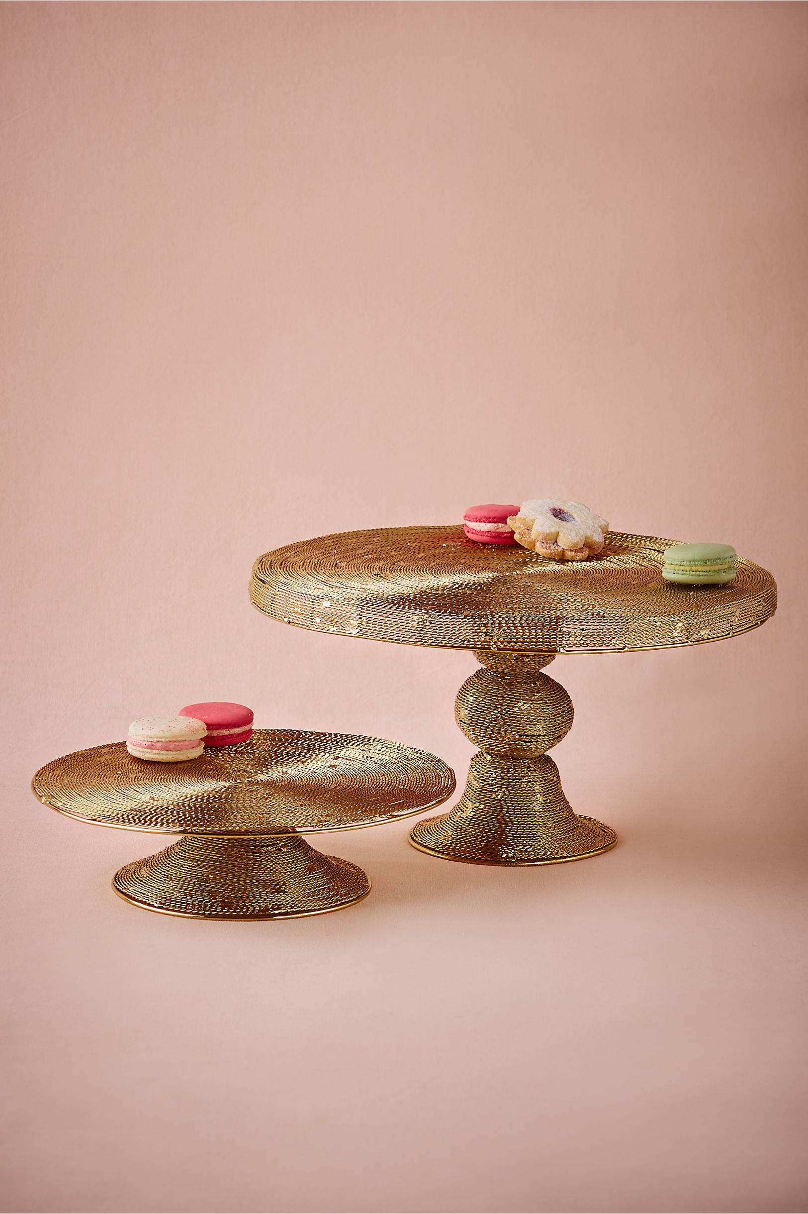 Spun Gold Cake Stand in Sale