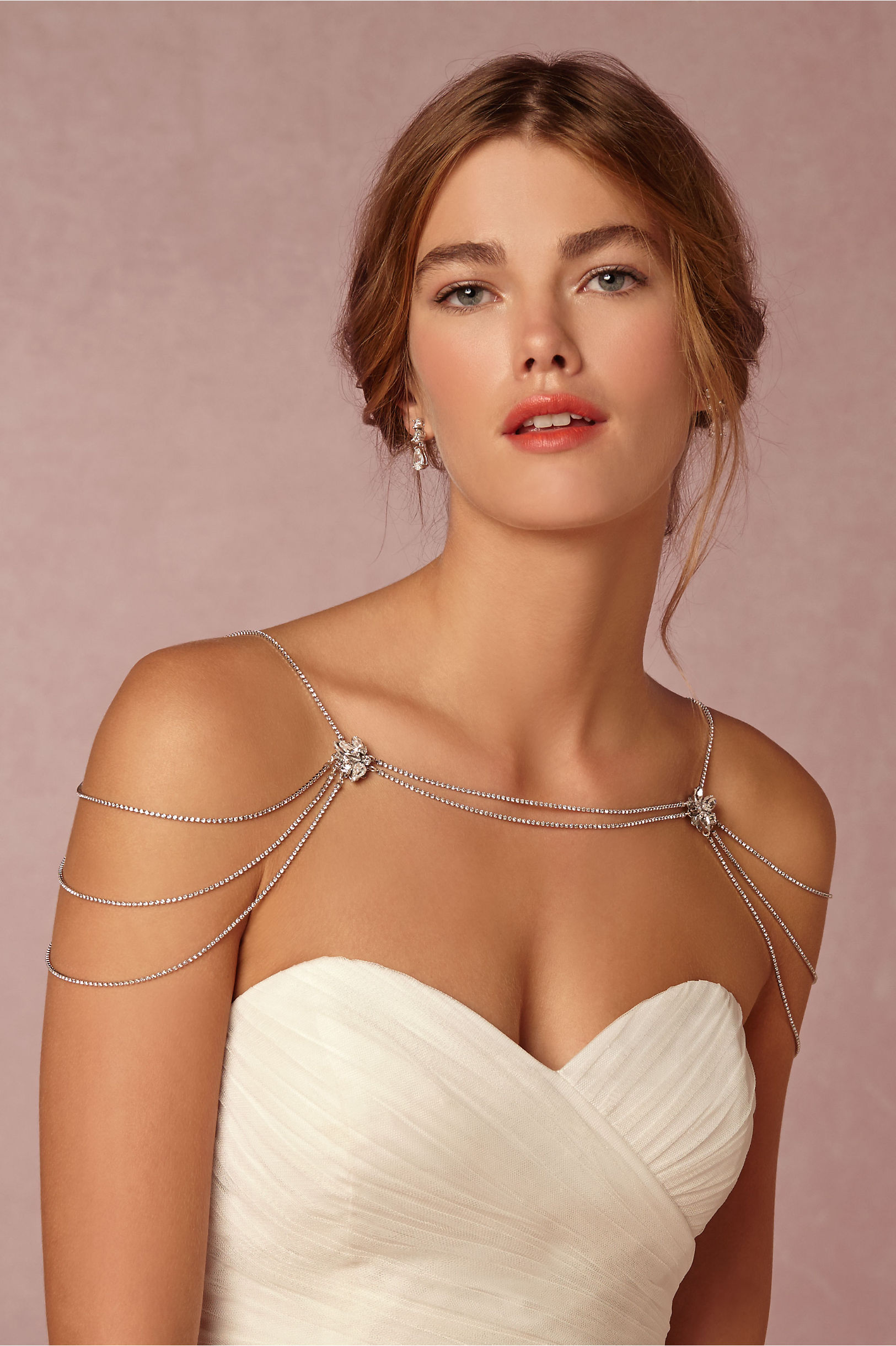 Reina shoulder necklace in sale bhldn sara gabriel silver reina shoulder necklace bhldn ombrellifo Choice Image