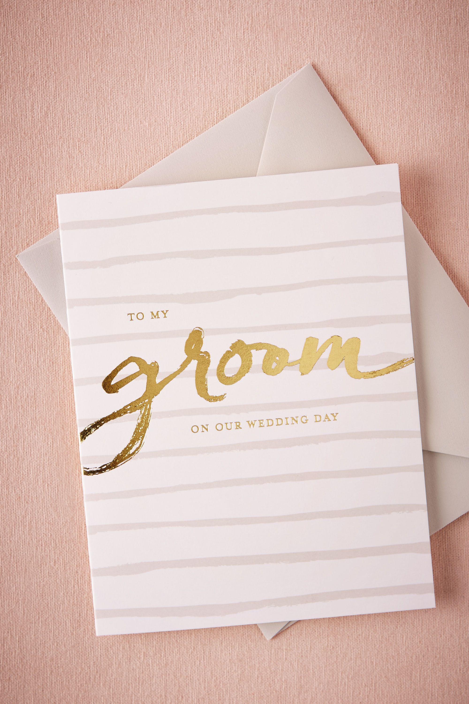 Foiled Groom Card