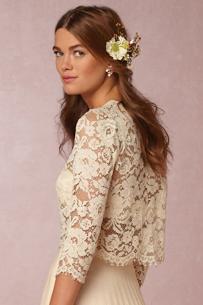 Candela Ivory Serenity Lace Top | BHLDN