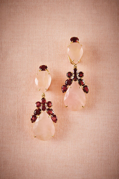 Pink Garnet Rose Convertible Earrings | BHLDN