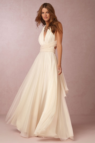 twobirds Ivory Ginger Convertible Maxi Dress | BHLDN