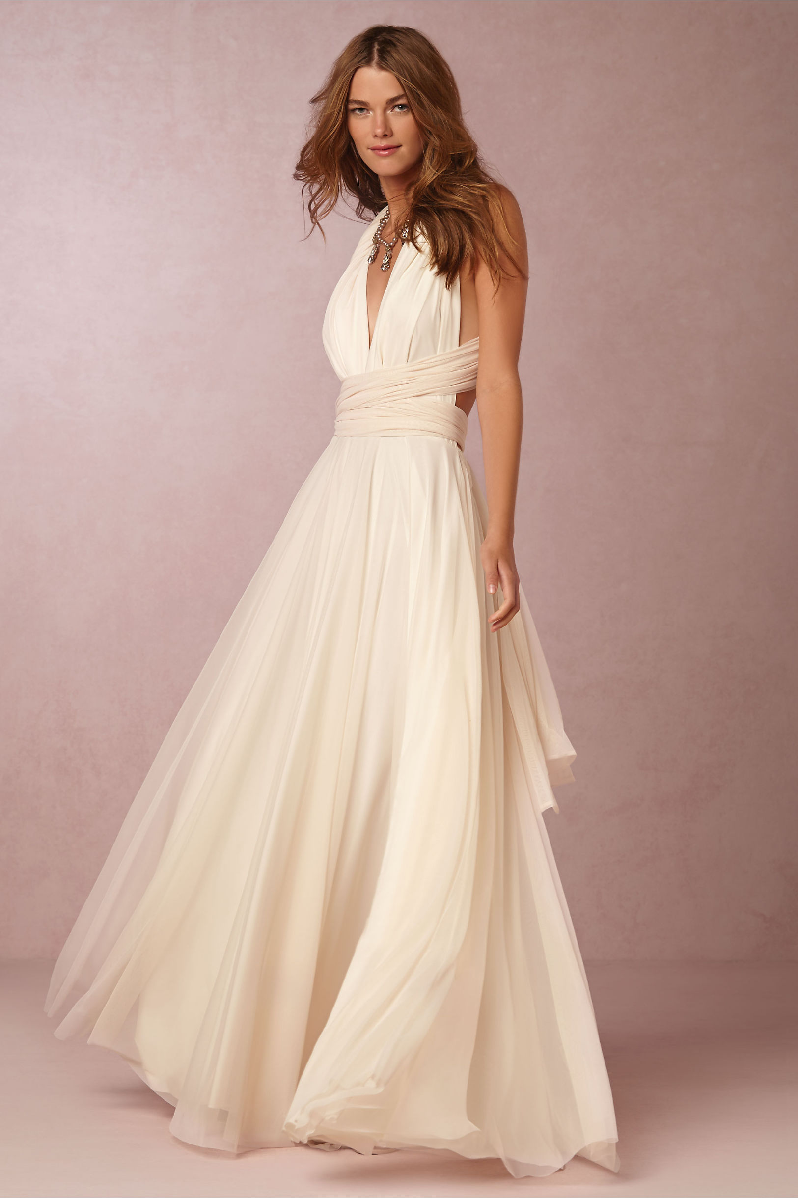 Ginger Convertible Maxi Dress in Bride | BHLDN