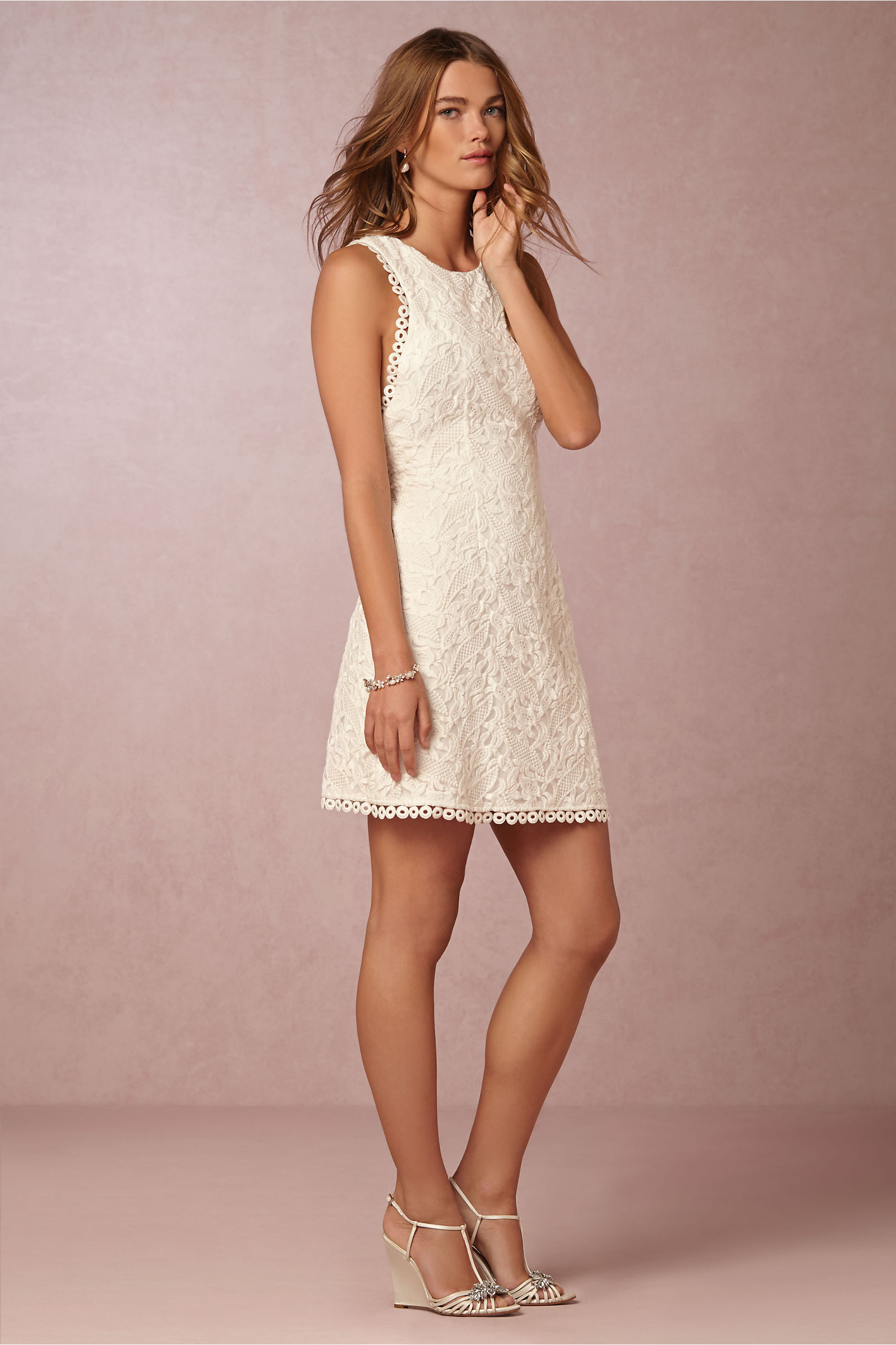 Ekin Mini Dress in Bride | BHLDN