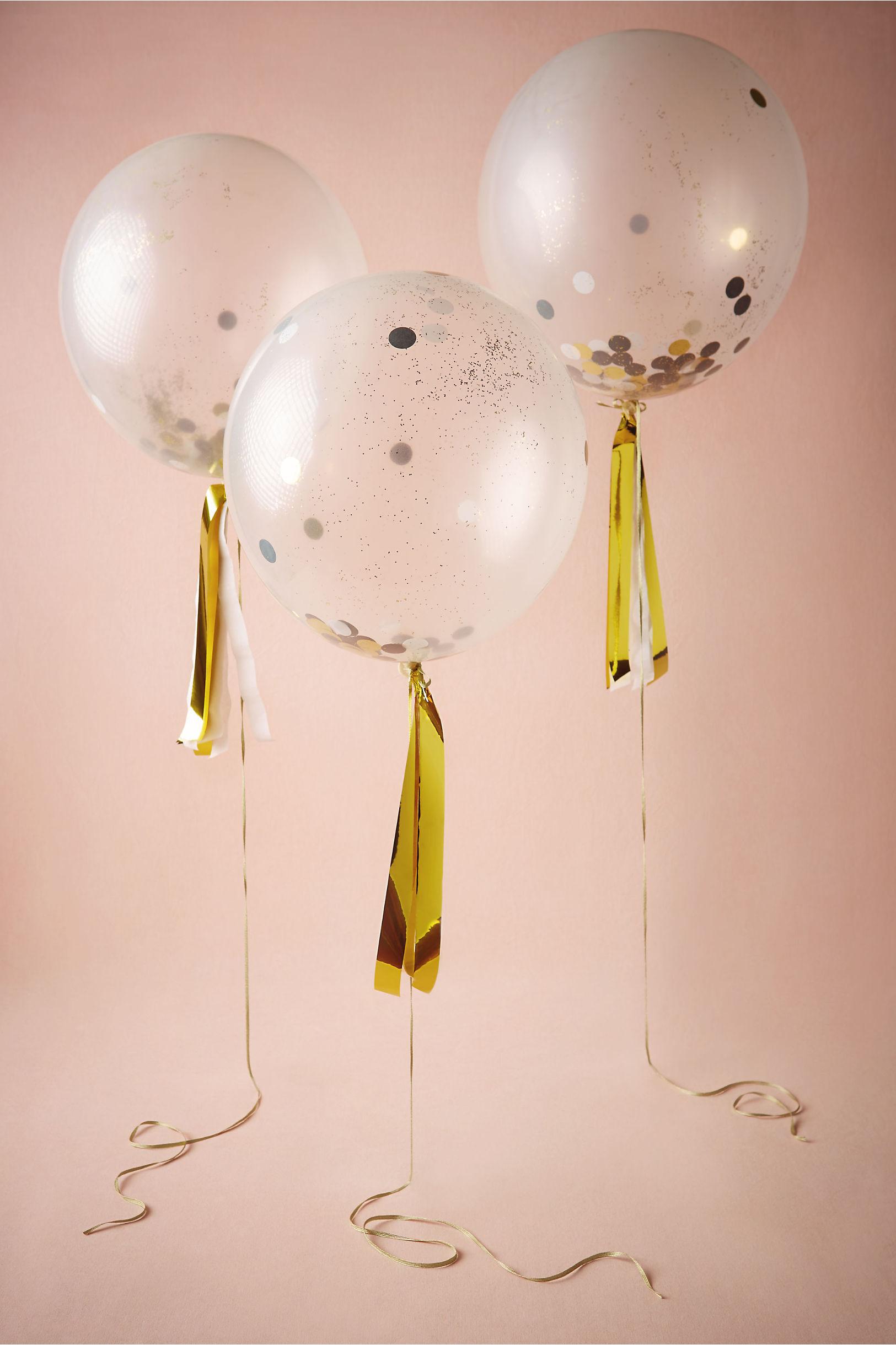 Gold Confetti Shine Balloons 8 Bhldn