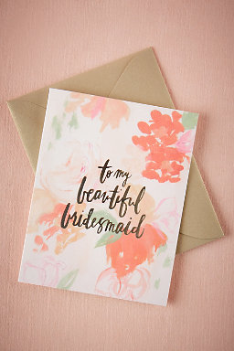 Beautiful Bridal Party Cards