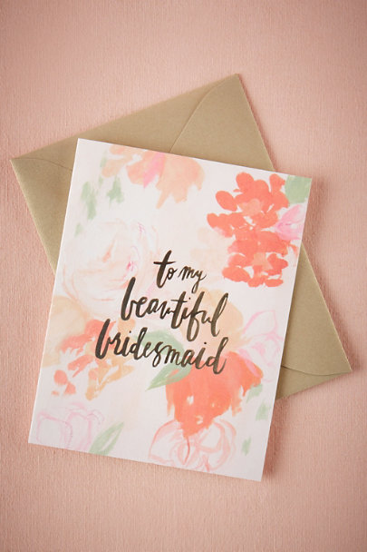 Hanky Panky Bridesmaid Beautiful Bridal Party Cards | BHLDN